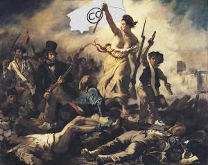 Imagen de la revolución francesa remixada