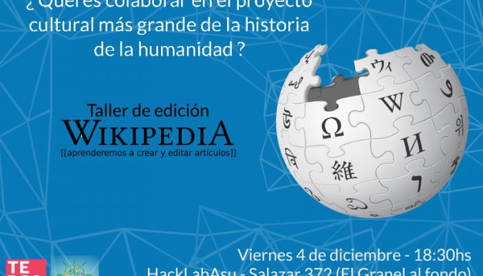 Editaton en el HacklabASU [Evento]