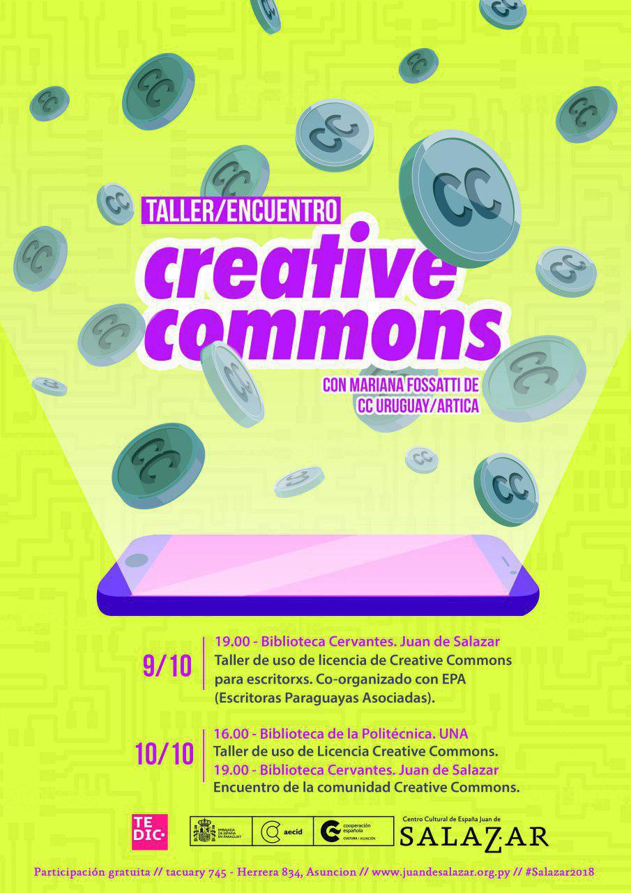 Talleres y Encuentro de Creative Commons: A compartir y aprender sobre la Cultura Libre